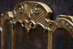 "OOAK set 1: 4 ""Old Castle"" (JuliaGart) Tags: ooak ottoman mirror scale 14 furniture furniturefordolls for furnitureforthesybarite sybarite numina kd julia gartung"