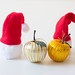 Christmas hats and apples