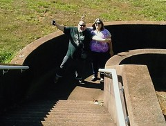 10/20/17 - Amy and I being goofy friends (CubMelodic23) Tags: october 2017 vacation trip alabama wheelerdam selfportrait me dave amy friend