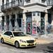 Taxi & Graffiti - Athens, Greece