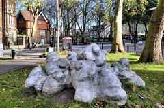 Goldington Clouds (R~P~M) Tags: london england uk unitedkingdom greatbritain art sculpture cloud goldingtoncrescentgardens camden aluminuim