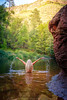 Into the wild (dannygreyton) Tags: woman nature usa sedona arizona river water bathing swimming girl rock hair naked nude nationalpark fujifilmxt2 fujifilm forest sexy people blonde