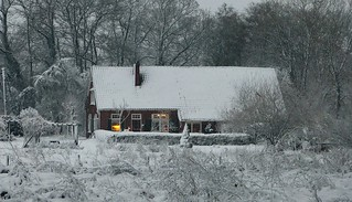 Our home in a snowscape
