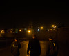 Night walk (Alexander-_-Laz) Tags: russia irkutsk night black lantern lamp glare sky people embankment seafront tower building town city church dome walk stroll