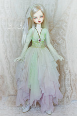 Flower Princess (AyuAna) Tags: bjd ball jointed doll dollfie ayuana design handmade ooak clothing clothes dress set fashion couture sewing crafting fantasy romantic style slim msd mnf minifee fairyland size dim dollinmind benetia hybrid withdoll body