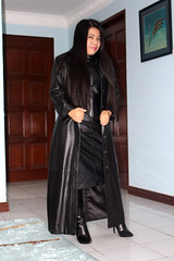 Just a Hint of Boot (johnerly03) Tags: erly philippines filipina asian msfoxcy shiny black long leather coat trench high heel knee length boots hair