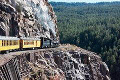 The Animas Gorge (std70040) Tags: durangosilverton durangoandsilverton denverriogrande denverandriogrande k28 steam steamengine steamlocomotive steamtrain railway