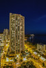 Waikiki Beach Blue Hour (AFracturedCrown) Tags: blue bluehour longexposure hawaii waikiki lighttrails buildings cityscape night