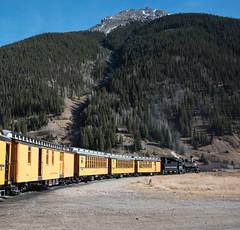 Leaving Silverton (std70040) Tags: silverton denverriogrande denverandriogrande durangosilverton steam steamlocomotive steamtrain steamengine k28