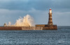 Roker Lighthouse (robinta) Tags: seaandsand ocean water seascape tide wave surf pier lighthouse architecture historic landmark dramatic coast harbour structure outdoor pentax sigma ks1 sigma70300mm sunderland ngc action buildings
