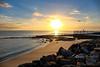 Sunrise (1DesertRose) Tags: walk morning cool ripples coastal coast sea ocean beach australia nsw jervisbay rise landscape season rocks sun spring reflection water sand relaxing peace sunrise