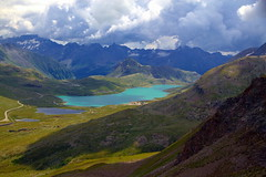 The charm of mountain lakes (mark.paradox) Tags: switzerland bernina berninapass mountains lakes hills water beauty hike outdoor colors travel ascend elevation view scenic inspiration