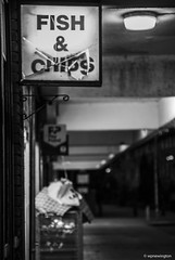 Lambeth Walk when the chips are down © (wpnewington) Tags: chips lambeth signs shops monochrome bw london decay