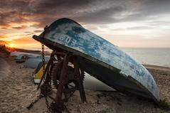 Essex  Shoeburyness (daveknight1946) Tags: southendshoebury essex riverthames dingy olddingy sunrise clouds winch rustywinch boats beach prom promenade chains rustychains sand pebbles wheel coggedwheel
