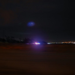 Incident off the highway (elevatoro) Tags: arizona highway scottsdale night police blur motion road driving justinleibow