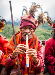Ifugao people in Banaue, Philippines (TeunJanssen) Tags: worldtravel worldheritage unesco banaue travel traveling backpacking hike rice riceterraces pula cambulo batad luzon philippines clouds olympus omd omdem10 ifugao culture flute traditional 17mm portrait