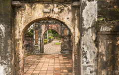 20171103_1173 (lgflickr1) Tags: hue vietnam imperial citadel sidewalk deteriorated weathered worn overcast clowdy asia historic bricks mortar southeastasia