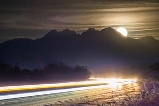 Supermoon Rising   Four Peaks, AZ