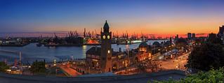 Hamburg Skyline Sunset