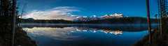 Herbert Lake Panorama (Daniel.Peter) Tags: banffnationalpark berg canada herbertlake kanada schnee see spiegelung dpe3x lake mountain reflection snow