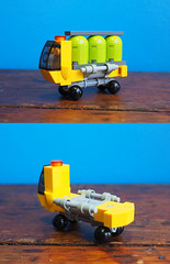 Container Lorry (David Roberts 01341) Tags: lego microscale space spaceship spaceport truck lorry transporter
