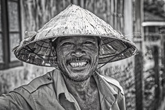cheese please (cheezepleaze) Tags: smile saycheese farmer vietnam hat strawhat suchfriendlypeople hss