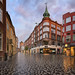Kobmagergade Street and  Round Tower in the Morning, Copenhagen, Denmark