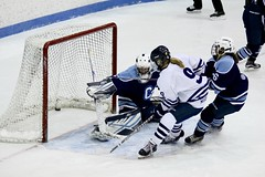 In the old onion bag! (stephencharlesjames) Tags: goal winter sport ice hockey womens sports action ncaa middlebury vermont connecticut