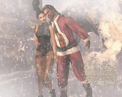 Ho Ho Ho…..Happy Holidays <3 (Roy Mildor - I am how I am !) Tags: roymildor rmartofposes happyholidays photography winter snow sl secondlife xmas white soft couple profile card firends