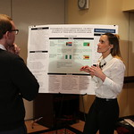 Anna Amsbaugh presenting her Capstone poster.