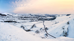 Winter morning on Winnats (Stephen Elliott Photography) Tags: peakdistrict hopevalley derbyshire castleton winnats pass winter snow dawn panoramic olympus em1 12100mm kase filters