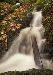 'Trapped downstream'. (Explored 20/11/17) (Meurig2011) Tags: meiganwaterfall beaumaris water longexposure anglesey northwales autumn stream