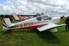 G-BFEH Jodel D.117A Gran Tourisme [828] Hullavington~G 21/05/2005 (raybarber2) Tags: 828 airportdata cn828 egdv flickr gbfeh single ukcivil