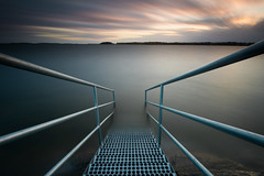Into the water - Skutberget 2017 (- David Olsson -) Tags: skutberget karlstad värmland sweden lake vänern water smoothwater sunset sundown cloudy leadinglines stairs bathing seascape landscape outdoor le longexposure leefilters bigstopper lenr blackglass ndfilter 06hard gnd grad nikon d800 1635 1635mm 1635vr vr fx davidolsson 2017 october oktober