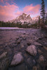 Magenta Magic (Darren Umbsaar) Tags: mountains mountain mount kidd kananaskis alberta rockies canada canadian rocky rock pink sunrise river stones pebbles winter