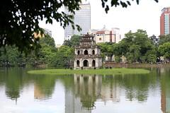 Impressive Ngoc Son Temple at the Hoan Kiem Lake in Hanoi, Vietnam #travelling #ngocsontemple #hoankiemlake #mustvisit #temple #hanoi #vietnam #tourist #architecture #cityscape #reflection #dailylife #asia #instahanoi #instavietnam #hetfotofabriekje (Het Fotofabriekje) Tags: travelling ngocsontemple hoankiemlake mustvisit temple hanoi vietnam tourist architecture cityscape reflection dailylife asia instahanoi instavietnam hetfotofabriekje