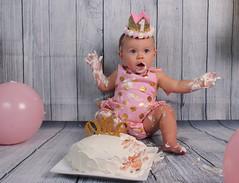 Ella (Rev Unstable Boy) Tags: canon t3i baby girl birthday cake ocf flash mess ballons