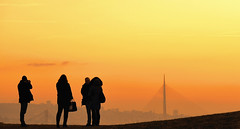 belgrade sunset (poludziber1) Tags: street streetphotography skyline sky sunset city colorful cityscape color colorfull capital people silhouette beograd belgrado belgrade serbia orange yellow challengeyouwinner friendlychallenges