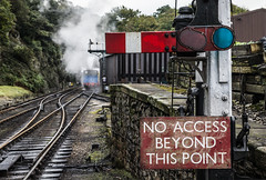 Access all areas? (Blaydon52C) Tags: lakeside haverthwaite steam railway rail signal semaphore railways trains train transport railroad locomotive locomotives loco andrewbarclay industrial cumbria cumberland