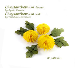 P71116-172357m (polelena24) Tags: origami flower chrysanthemum leaf ball