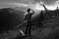 Horizons (Marco San Martin) Tags: blackandwhite blackandwhitephotography man male hombre photoshop creative art arte artofvisuals design graphicdesign marcosanmartin marcosanmartinfotografia horizons horizonte mountains retrato retouch manipulation beautifulday explorer outdoor composition myart artesvisuales view vistas