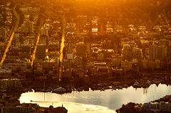 Daybreak over Victoria (C McCann) Tags: victoria bc british columbia aerial downtown sunrise morning cessna 172
