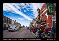 Fort Macleod's 36th Annual Santa Claus Parade with Santa himself, Fort MacLeod, Alberta (kgogrady) Tags: 36thannual fall landscape santa santaclausparade ftmacleod alberta canada street southernalberta xt2 streetsigns xf18135mmf3556oiswr road westerncanada clouds 2017 colorful buildings fujifilm colourful downtown fujifilmxt2 autumn architecture cans2s fujinon ab canadiantown photosoffortmacleod picturesoffortmacleod morning heritage people tradition