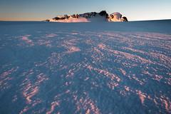 Radiance of the Dawn (blue polaris) Tags: new zealand tongariro national park mt mount ruapehu volcano summit plateau te heu heuheu landscape glacier sunrise