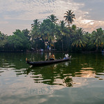 Local commuters at Alleppey backwaters, Kerala, India thumbnail