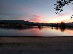 Los Gatos Creek Sunset (earthdog) Tags: 2017 sunset androidapp moblog sky water lake dusk park losgatos losgatoscreektrail commute lgenexus5x lge nexus 5x