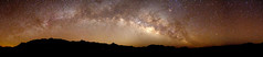 The Milky Way over the Chisos Mountains panorama.