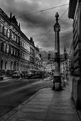 Prague (Baz 3112) Tags: foranyonewhosinterested streamzoofamily 500px hdr hdrcollection hdrgallery hdrphotography hdrphoto blackandwhite blackwhite street perspective prague people