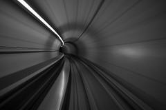 ZRH (maekke) Tags: zrh zürich zürichairport tunnel longexposure fujifilm x100t 35mm bw noiretblanc 2017