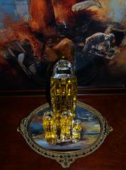 Parfumstory (lhb-777) Tags: parfum perfume fles bottle givenchi dressoir licht leuk mirror spiegel kleur funny playing spelen foto picture thuis home painting schilderij tray dienblad kijken look
